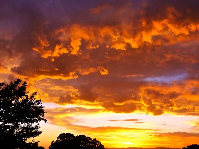 """""""fire"""" sunset"""