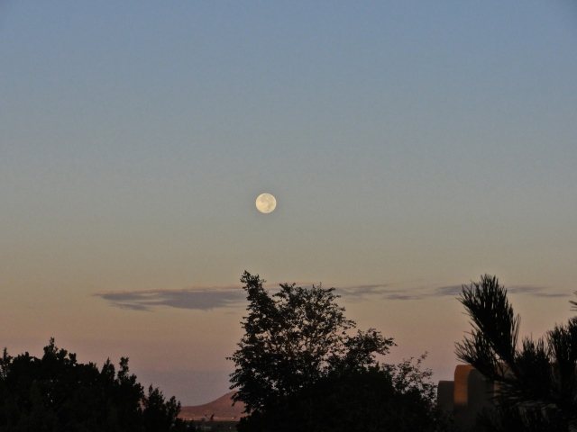 This morning's full moon