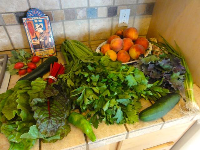 This week's CSA farm share