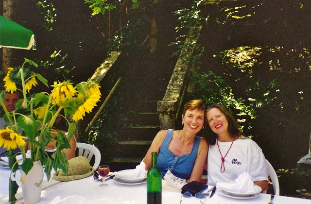 Sharon and I in France, many moons ago