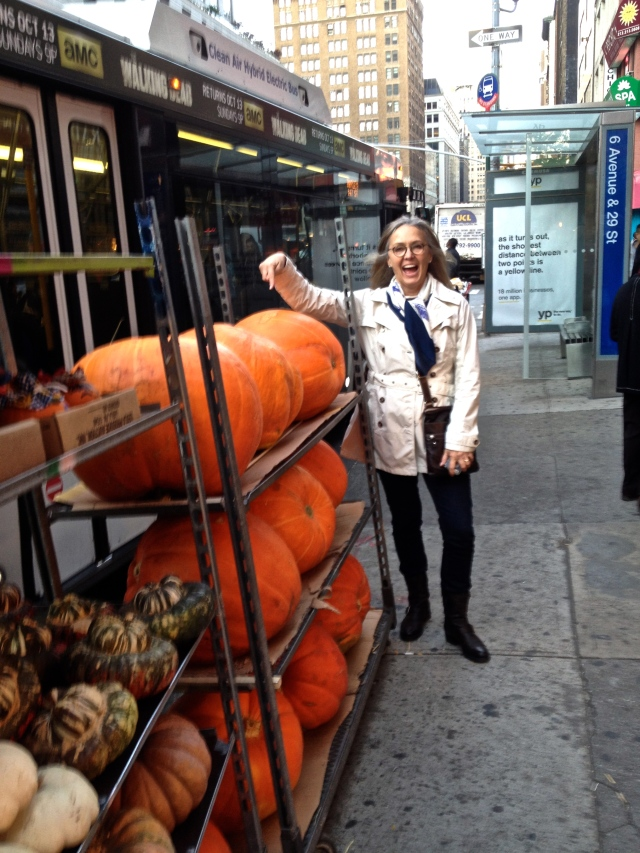 Carol Jennings loves the pumpkins!!