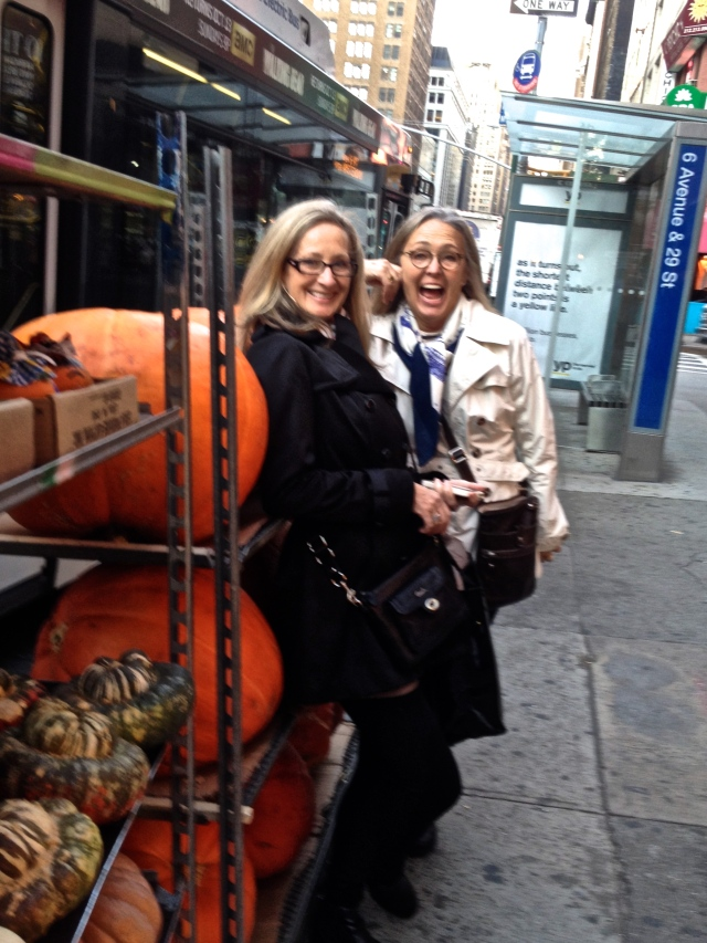 Jane & Carol, NYC - love those pumpkins!