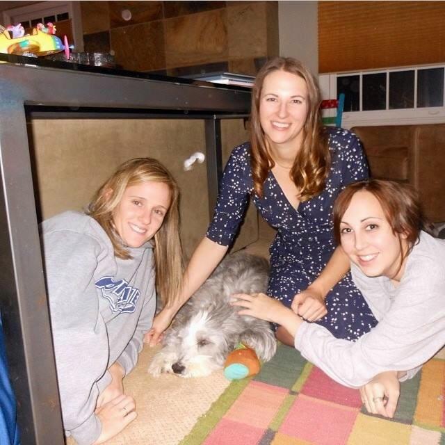Jessica, Jenna & Kristan with their 'sister' Ruffa