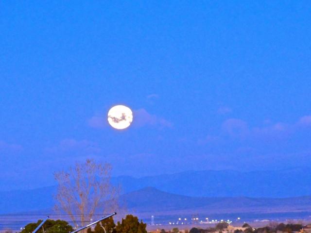 Moon over Santa Fe