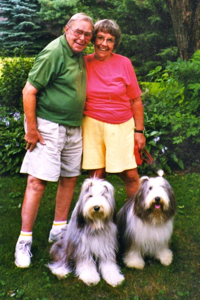 Ruffa & Murhpy with Grandpa & Grandma - all together again