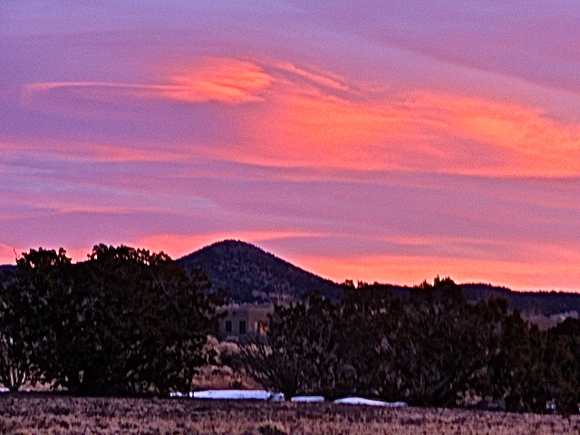 Morning sky over the Jemez  Mountains