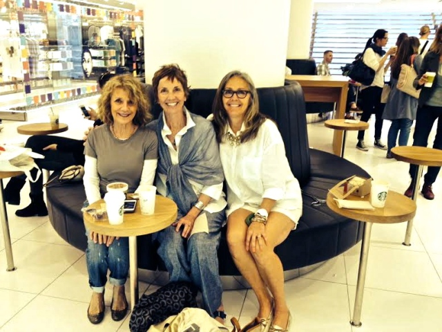 Fun with Friends - taking a Starbucks break from marathon shopping at UNIQLO, NYC