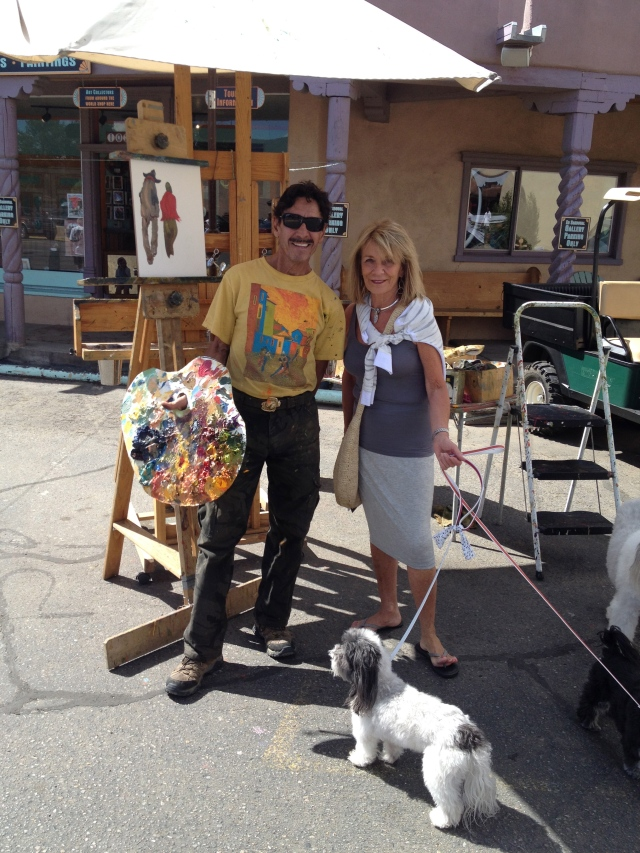 Taos Studio Tour, Galen and Taos artist